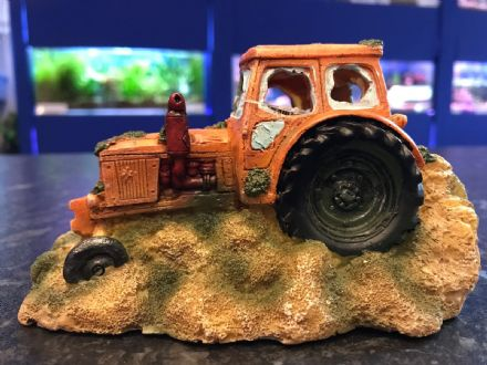 Tractor Wreckage Aquarium Ornament